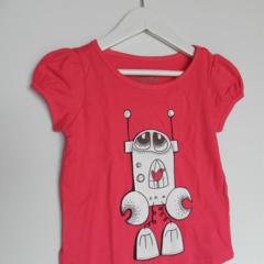 BADA and Bing Tshirt sz 4 Juicy raspberry colour Home is where the heart is