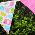 Little Chicks Pink Fabric Bunting - 3m