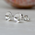 """Poppy"" Concave, Sterling Silver stud earrings"