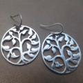 Rhodium Tree of Life Earrings