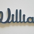 Personalised Wooden Name  with 5 or more letters; Modern Font