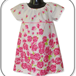 Clearance... Rose Boarder Dress (SIZE1&2)