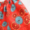 Size5 *Lemon* burnt-orange skirt