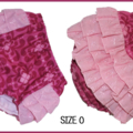 SIZE 0 - Pink Ruffle Bum Panties with anglaise and tulle