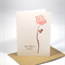 Get Well Soon Card - 1 Pink Rose - GWS009