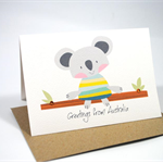 Australia Card - Koala on Branch - Greetings from Australia - AUS010