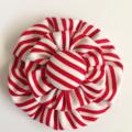 Candy Stripe Double Yoyo Hair Clip