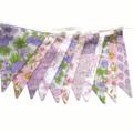 Vintage Pastel Spring Floral Pink, Lilac, Lace, Flag Bunting. Wedding, High Tea