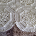 Beautiful Cream Crochet Bordeaux Matelass 233 Afghan