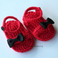 Crochet Baby Summer Bow Sandals/Booties
