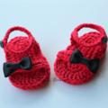 Crochet Baby Summer Bow Sandals/Booties
