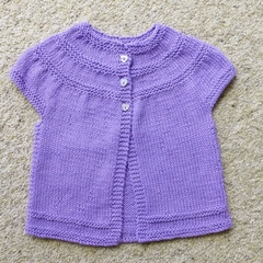 Cotton cardigan with short sleeves
