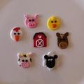 Farm Animal Themed Edible Cupcake Toppers