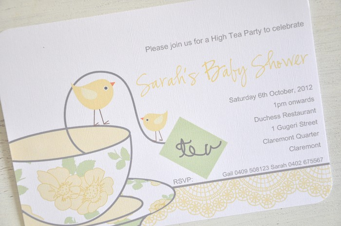 Pack of 10 high tea baby shower invitations ginahsigns pack of 10 high tea baby shower invitations filmwisefo Choice Image