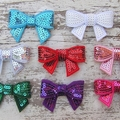 SET of 4 Sequin Bow Hair Clips