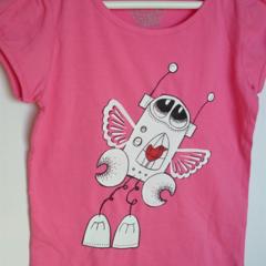 sz 6 Friends give you wings Bubblegum pink tshirt BADA and Bing