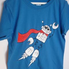 Boys sz 5 Super BADA Bright blue tshirt BADA and Bing