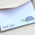 CUSTOM LISTING FOR FIONA Thank You Turtle Note Card Set, 10 x Flat Notecards