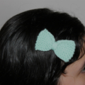 Sweet Tiny Bow   Knitted Hair Clip   Pack of Three Bows   Made to Order
