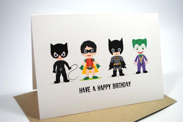 Happy Birthday Card Boy or Girl Batman HBC132 – Batman Birthday Cards