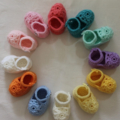 NB to 12M Crocheted Mary Jane Shoes Custom Colour