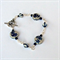 Blue and White Flower Ceramic Bracelet