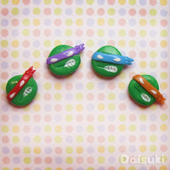 TMNT - set of 4 mix & match Ninja Turtle Earrings! Hand-sculpted