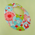 SPRING FLOWERS Super-Absorbent 3-Layered dribble  bib with Stay-Dry backing
