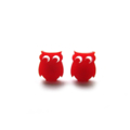 Red Acrylic Laser Cut Owl Earring Posts