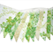 RETRO Floral Vintage Eco Spring Green Flag Bunting. ECO FRIENDLY Decoration