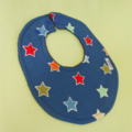 STAR COLORS: Lil' Chiclets 3-Layered Super-Absorbent bib with Drool Proof backin