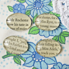 Jane Eyre Magnet Set of Four. Charlotte Bronte Mr Rochester Literature Text