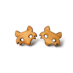 Fox Wooden Laser Cut Post Earrings