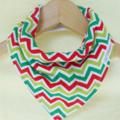 CHEVRON Super-Absorbent 3-Layered bandana bib with Waterproof backing