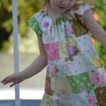 Girls Dress - Garden Girl w Brooch. Birthday dress. summer. winter. party outfit