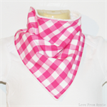 BUY 3 GET 4th FREE Bandana Dribble Bib - Pink Gingham Checks
