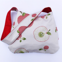 Reversible Apple Shoulder Bag