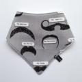 Moustache Bandana Dribble Bib - Baby Toddler Boy