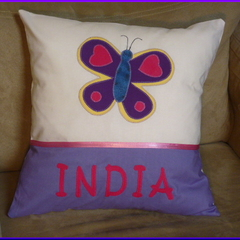 PERSONALISED CUSHION COVER - Butterfly