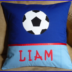 PERSONALISED CUSHION COVER - Soccer Ball