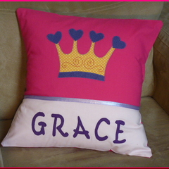 PERSONALISED CUSHION COVER - Crown