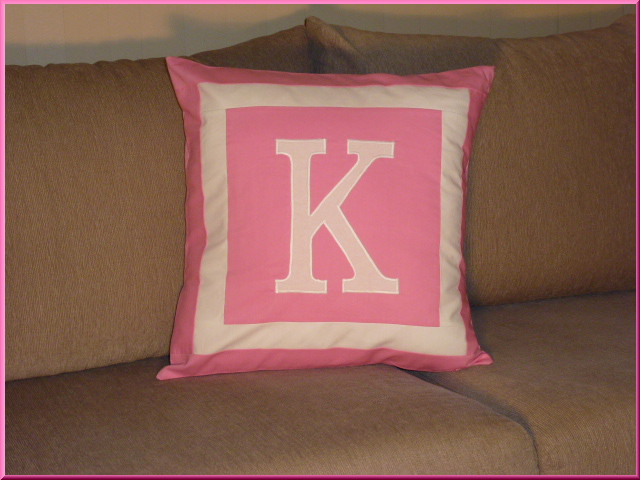 monogrammed cushion cover any colour mandy j designs 13518 | 4 13518a5c92284244b8368411ef5b731emonogram 20cushion 20cover 20 20pink 20 20white 20with 20frame