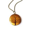 Tree Of Life Gold Vintage Style Photo Locket