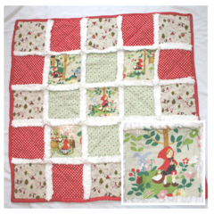 """Little Red Riding Hood"" Baby / Child's Quilt with Vintage Chenille"