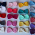 Sweet Tiny Bow | Knitted Hair Clip | Large Selection of Colours