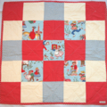Vintage 'Nursery Rhyme' Print Play Quilt