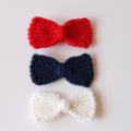 Sweet Tiny Bows | Knitted Hair Clips