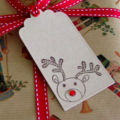 Christmas Gift Tags - Rudolph the Red Nosed Reindeer - 12 Pack