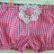 Girls pink and white nappy cover - pretty, baby present, doily, newborn,