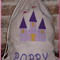 CHILDS PERSONALISED LIBRARY BAG - CASTLE